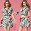 Lady Ribbon's Made Lady Jenny Super Chic Colorful Flower Printed Viscose Dress thumbnail 6