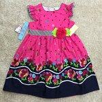 LKD-565 เสื้อผ้าเด็กขายส่ง (3 ชุดต่อแพค) ไซร์ 8y-10y-12y ชุดกระโปรงเด็ก สีชมพู/กรมท่า