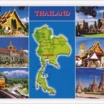 โปสการ์ด แผนที่ประเทศไทย /แผนที่/multiview