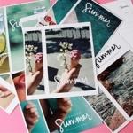 โปสการ์ด+ที่คั่นหนังสือ 30ใบ/เซ็ท Summer Series Postcard Set
