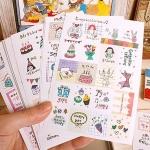 (16 แผ่น/ชุด) แสตมป์สติ๊กเกอร์ Exquisite Stamp Sticker Set (ใช้ตกแต่ง ไม่สามารถใช้แทนค่าฝากส่ง)