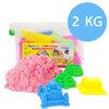 P087 ทรายนิ่ม Soft Sand Play Sand ทรายสีชมพู หนัก 2000 กรัม