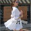 Lady Brie Feminine Flared Sleeve Embroidered with Frill Dress thumbnail 11