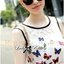 Lady Daria Feminine Insert Lace Colourful Butterfly Printed Dress thumbnail 6