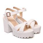 [พร้อมส่ง] ไซส์ 40-46 รองเท้ามัฟฟิน รัดข้อเท้า ไซส์ใหญ่ สีขาว