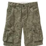 Old Navy : กางเกง รุ่น Boys Twill Cargo Shorts สีเขียวใบไม้ size 12 / 16