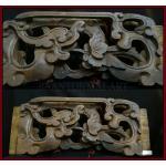 แผ่นไม้แกะสลัก ศิลปะจีน 18x45cm.