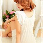san303 ชุดนอนวาบหวิว ชุดนอนผ้าลื่น มีบ่า สีขาวสวยหวาน เซ็กซี่
