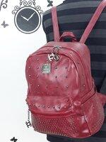 [สีแดง] กระเป๋าเป้สะพายหลัง Backpack แฟชั่นเกาหลีทั้งผู้ชายและผู้หญิง