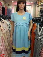 เดรสสีฟ้าผ้าซีฟองงานสวยใส่ทำงานได้ค่ะชุดมีซับในและเชือกผูกหลัง