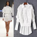 BL_4801,เสื้อเชิ้ตซ้อนเสื้อลูกไม้ Hi Brand, March , 2016, White , S-M-L~2000-2999