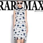DR_7945, ชุดแซก Chicy Dress สีเทาลายจุดน้ำเงิน, June, 2015, Dress, Grey, S-M-L, ~2000-2999