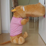 ตุ๊กตาฮิปโป ตุ๊กตาประกอบซีรี่ย์เกาหลี Smile again น่ารัก น่ากอดไว้เป็นเจ้าของ ขนาดใหญ่สุด 140 CM เสื้อสีชมพู