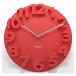 นาฬิกา3D นาฬิกาไอเดียสุดเก๋ ตัวเลขนูนเป็นสามมิติ เพิ่มความหรูให้กับบ้านคุณ สีแดง