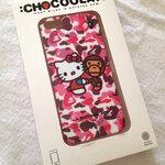 ** พร้อมส่งค่ะ ** เคส iPhone 5 Cover ลายพรางชมพู Chocolate Baby Milo