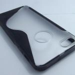 เคส TPUสำหรับ IPHONE5/5s ขอบสีหลังใส โชว์ตรา Apple สีสวย สีฟ้า