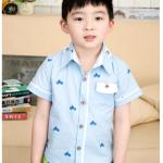 เสื้อ สีฟ้า แพค 5 ตัว ไซส์ 100-110-120-130-140