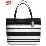 Pre-order COACH TOTE IN STRIPED COATED CANVAS Style no: 30511