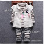 เสื้อตัวนอก+เสื้อตัวใน+กางเกง สีขาว แพ็ค 4ชุด ไซส์ (เหมาะสำหรับ0-4ขวบ)