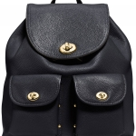 Preorder COACH Turnlock Rucksack in Pebble Leather Style No: 37582