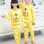 เสื้อ+กางเกง แขนยาว สีเหลือง แพ็ค 5 ชุด ไซส์ 8-10-12-14-16