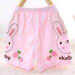 กางเกง กระต่ายสีชมพู แพ็ค 3 ชุด ไซส์ 73 ยาว23cm -80 ยาว25 cm -90 ยาว28cm