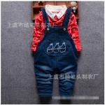 เสื้อ+เอี๊ยมกางเกง สีแดง แพ็ค 4ชุด ไซส์ (เหมาะสำหรับ0-4ขวบ)