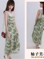 Pre  เดรส YOZI  AH025 เสื้อผ้าแฟชั่นเกาหลีราคาถูก