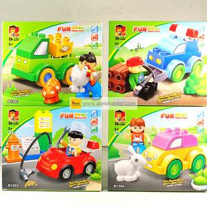 เด็กเล็ก (Dupro) W-set 2. ตัวต่อเลโก้จีน ชุดรวมรถ (ชุด 4 กล่อง)
