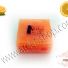 สบู่ส้ม AHA สกัดจากกรดที่อยู่ในผลส้ม 100% ซึ่งจะมีวิตามินซี และวิตามินอี สามารถช่วยลดความมันบนผิวหน้า แก้สิว ฝ้า กระ จุดด่างดำ