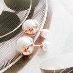 ต่างหูแฟชั่น Dior มุกขาวหุ้มเปลือกทอง