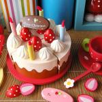 Strawberry birthday cake party