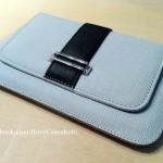 Galaxy Note Flip Cover **แท้** แบบเปิดข้าง สีขาวเทา