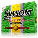 NEW SRIXON SOFT FEEL TOUR YELLOW GOLF BALLS
