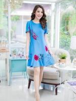 (พร้อมส่ง)เพอเฟคเดรส ผลิตจากผ้ายืดเกาหลีพิมพ์ลายดอกไม้