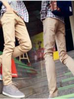 กางเกงยีนส์สีกากีอ่อน
