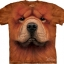 Big Face Chow Chow Dog Face T-Shirts thumbnail 1