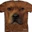 The Mountain Big Face Pitbull Dog T-Shirts thumbnail 1