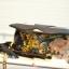 กระเป๋าสะพายแฟชั่นใบเล็กลายดอกไม้โทนสีดำ thumbnail 7