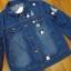 เสื้อแจ๊คเก็ตแบบตัวสั้นแขนยาวมีปก เนื้อผ้ายีนส์ thumbnail 6