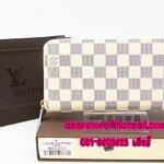 Louis Vuitton Damier Azur Zippy Wallet N60019 แบบซิปรอบ [หนังแท้]