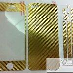 ฟิล์มกันรอยแฟชั่น รอบเครื่อง Kevlar Flim สีทอง for iPhone4S/4S (MSP046) by WhiteMKT