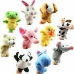 TO-001 (พร้อมส่ง) ตุ๊กตานิ้วมือ ผ้ากำมะหยี่ ชุดสัตว์น่ารัก หนึ่งแพ็คมี 10 ตัว