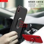 (025-998)เคสมือถือไอโฟน Case iPhone X เคสนิ่มซิลิโคนแฟชั่นแหวนมือถือโลหะยึดติดกับแม่เหล็กได้ หมุนได้ 360 ํ