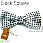 Black Square - หูกระต่าย สีขาว ลายจุดดำ สี่เหลี่ยม เล็ก (BT114) by WhiteMKT