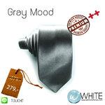 Gray Mood - เนคไท ผ้ามัน สีเทา หน้ากว้าง 2 นิ้ว (NT014) by WhiteMKT