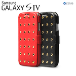 Zenus : Leather Case Prestige Rock Stud Diary Series For Samsung Galaxy S4, i9500