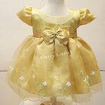 ชุดเด็กหญิงเล็กออกงานสีเหลืองทอง BL535