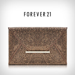 FOREVER21 (no tag) กระเป๋าคลัทช์กลิตเตอร์สุดหรู สี Modern Coffret สวยงามน่าจับจอง
