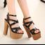 รองเท้าส้นสูง ไซต์ 34-38 สีดำ/แชมเปน thumbnail 2